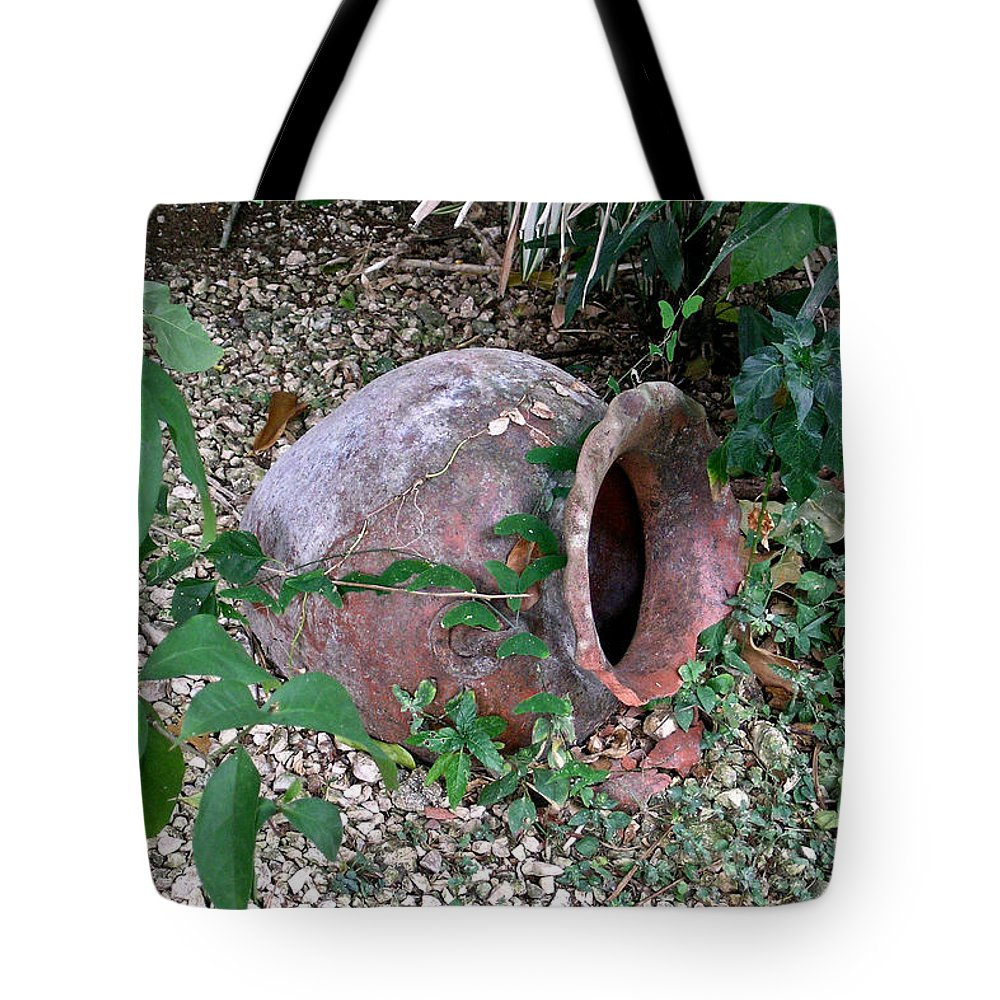 Ancient Tote Bag featuring the photograph Ancient Urn by Douglas Barnett