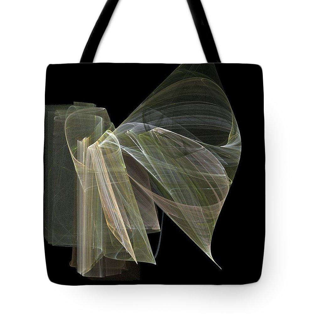 Experimental Tote Bag featuring the digital art And The Angel Spoke..... by Jackie Mueller-Jones