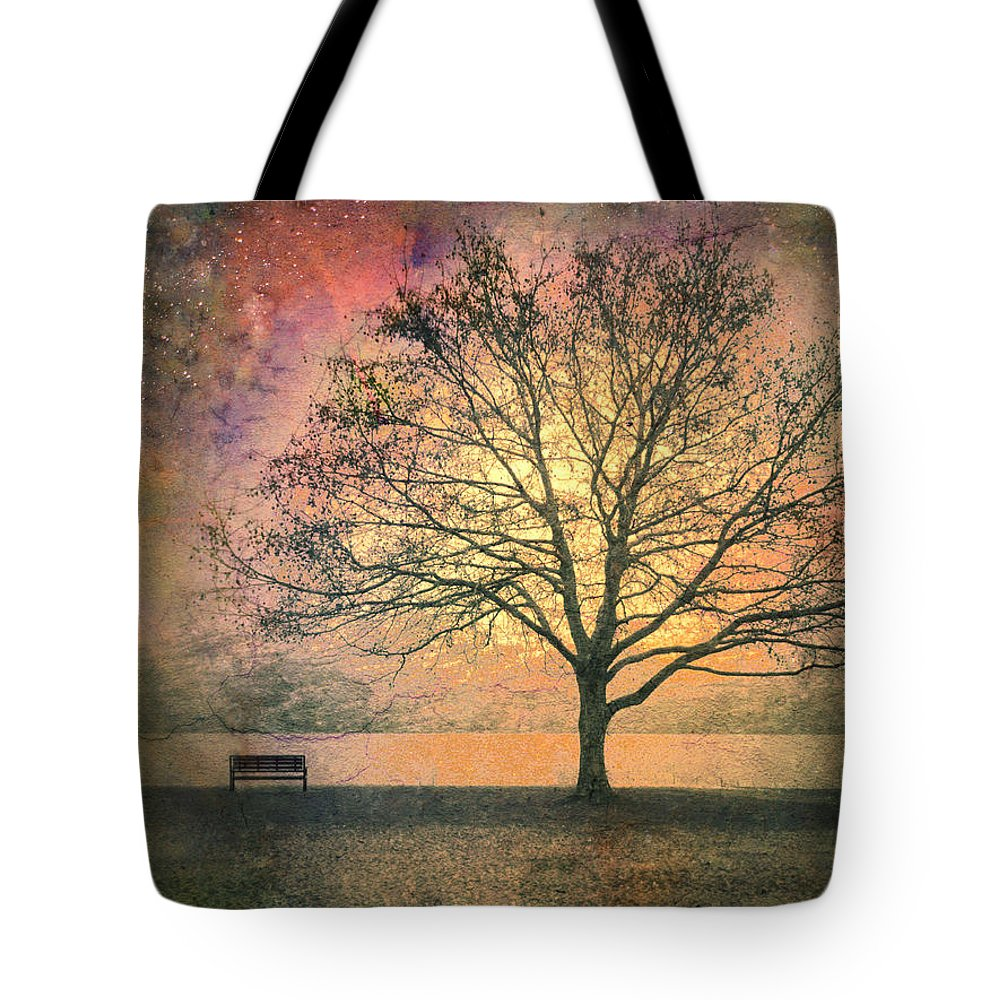 Tree Tote Bag featuring the photograph And The Morning Is Perfect In All Her Measured Wrinkles by Tara Turner