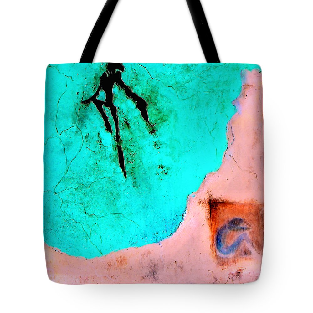 Spirit Afterlife Innerself Soul Fly Tote Bag featuring the painting And The Spirit Moved by Veronica Jackson