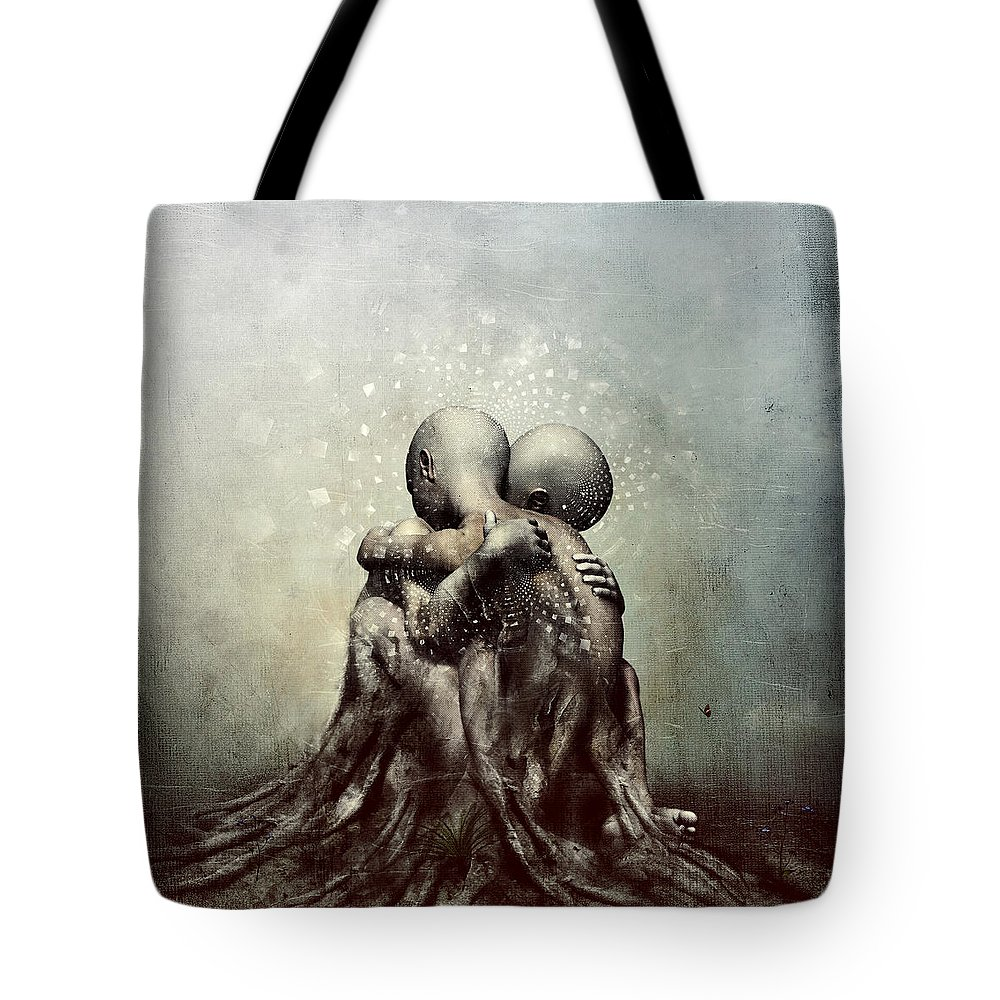 Cameron Gray Tote Bag featuring the digital art And Though We Fade Away by Cameron Gray