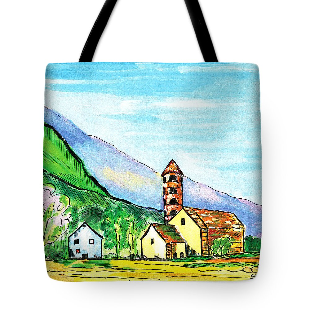 Andorra Tote Bag featuring the painting Andorra by Gloria Dietz-Kiebron