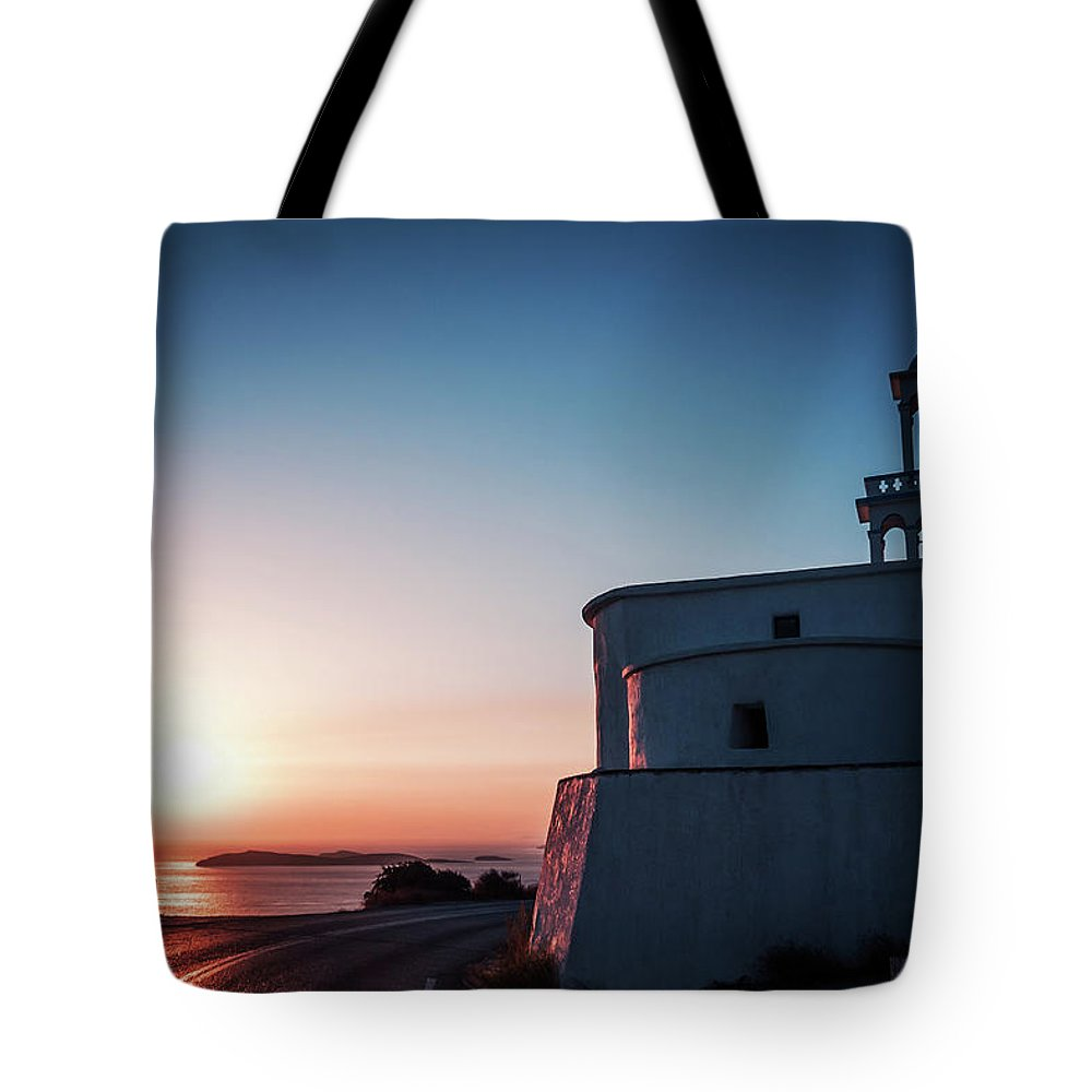 Andros Tote Bag featuring the photograph Andros Island Sunset - Greece by Alexander Voss