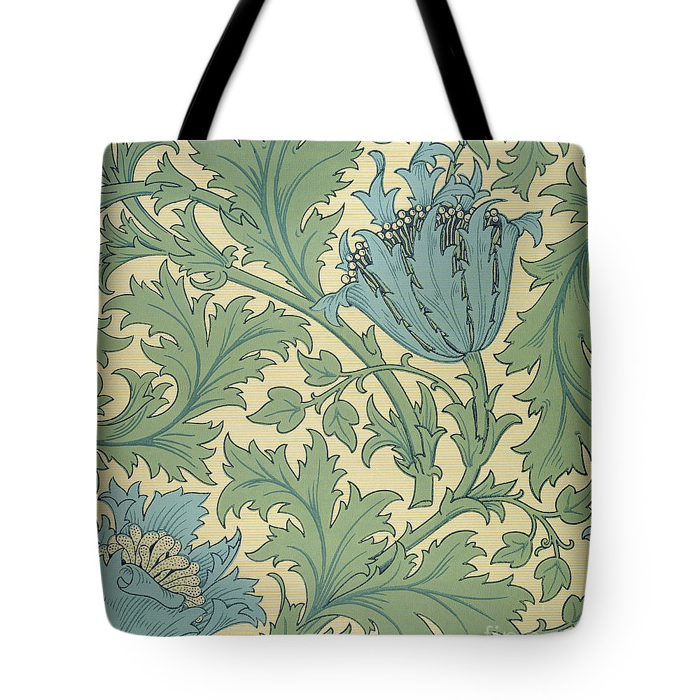 Arts And Crafts Movement; Floral; Pattern; Anemones Tote Bag featuring the tapestry - textile Anemone design by William Morris