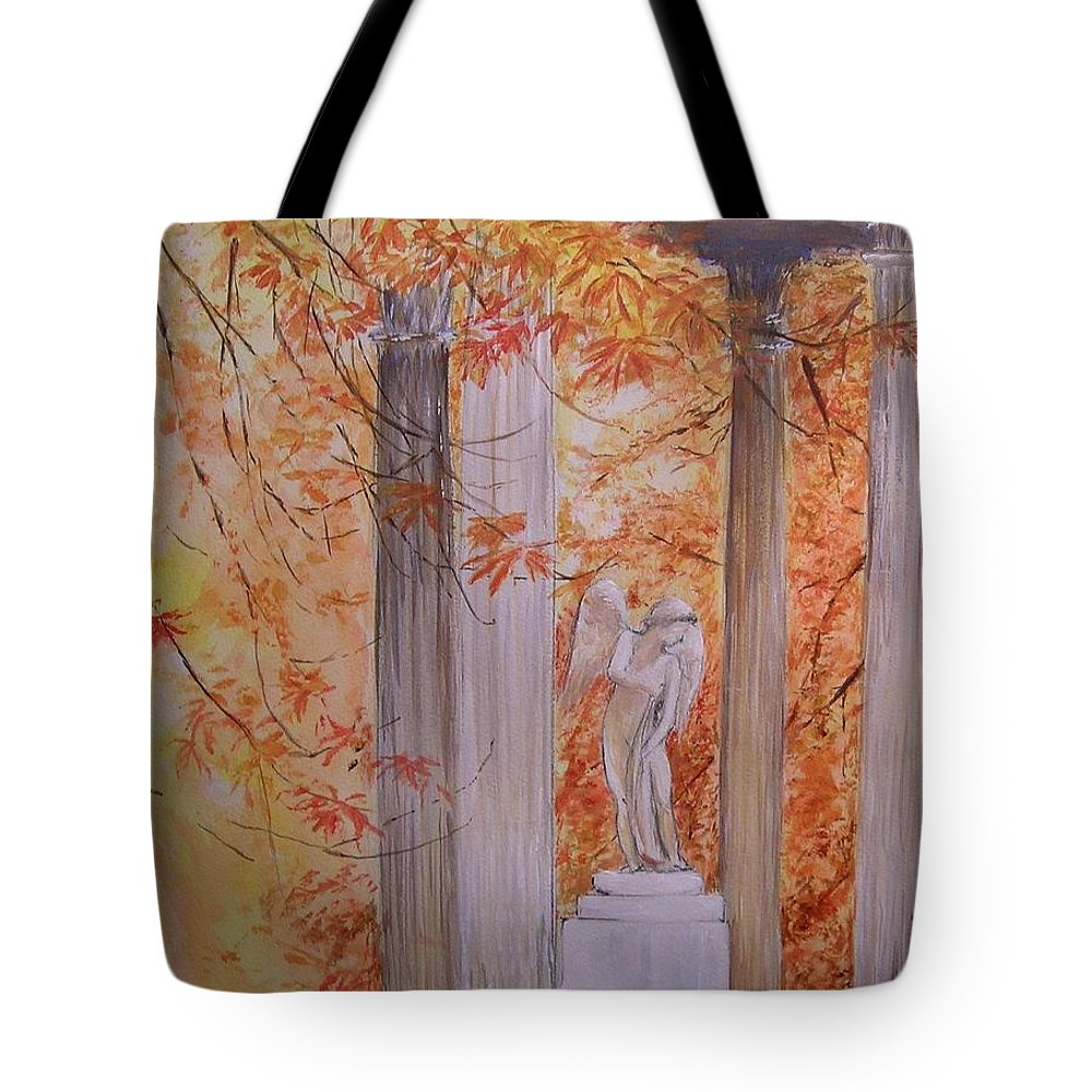 Angel Tote Bag featuring the painting Ange Petit Trianon Versailles by Lizzy Forrester