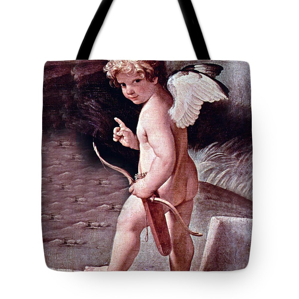 Angel Tote Bag featuring the photograph Angel - The Angel Of Love by Munir Alawi