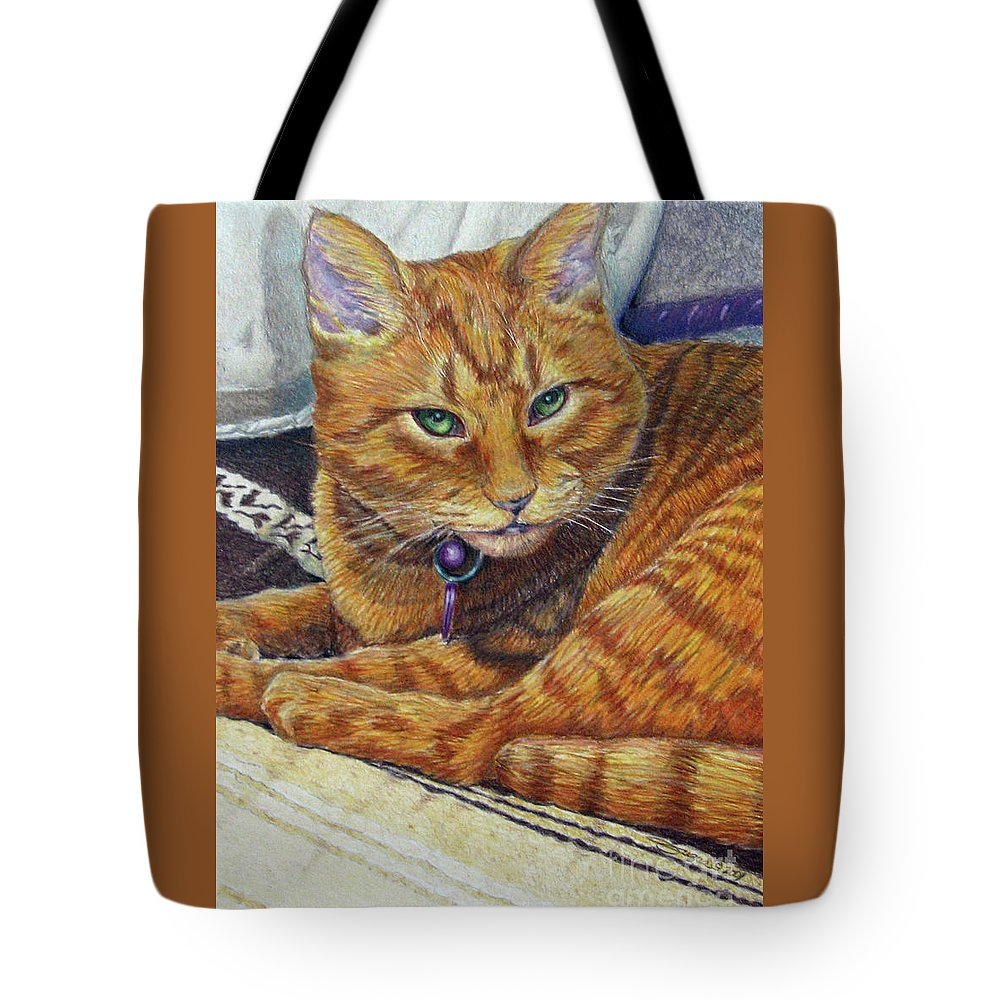 Fuqua Gallery-bev-artwork Tote Bag featuring the drawing Angel by Beverly Fuqua