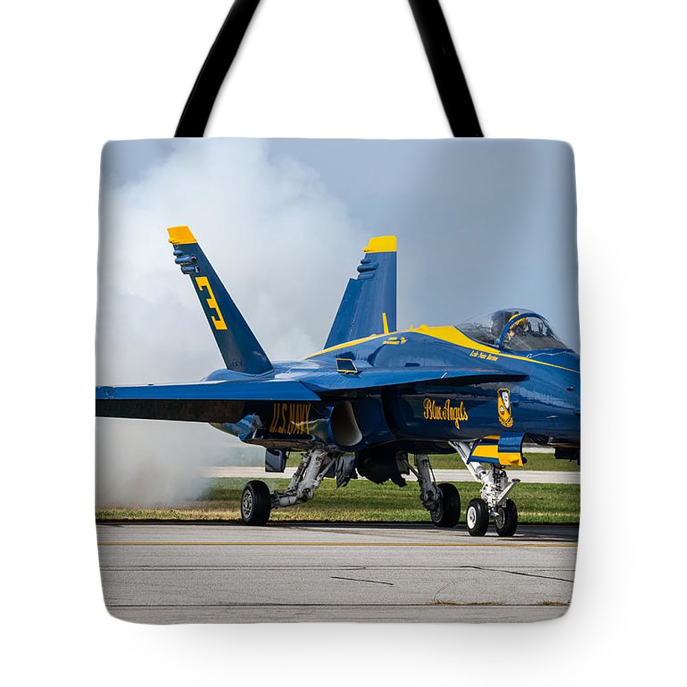 Jet Tote Bag featuring the photograph Angel Blue by Steven R Breininger