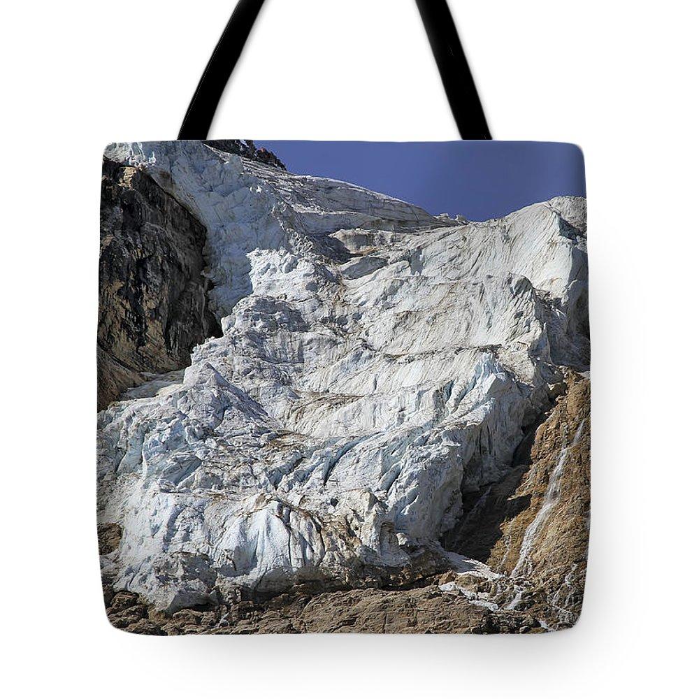 Glacier Tote Bag featuring the photograph Angel Glacier by Teresa Zieba