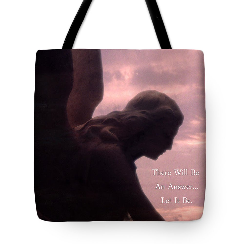 Inspirational Tote Bag featuring the photograph Angel Guardian Art - Inspirational Angel Art - Guardian Angel Silhouette by Kathy Fornal