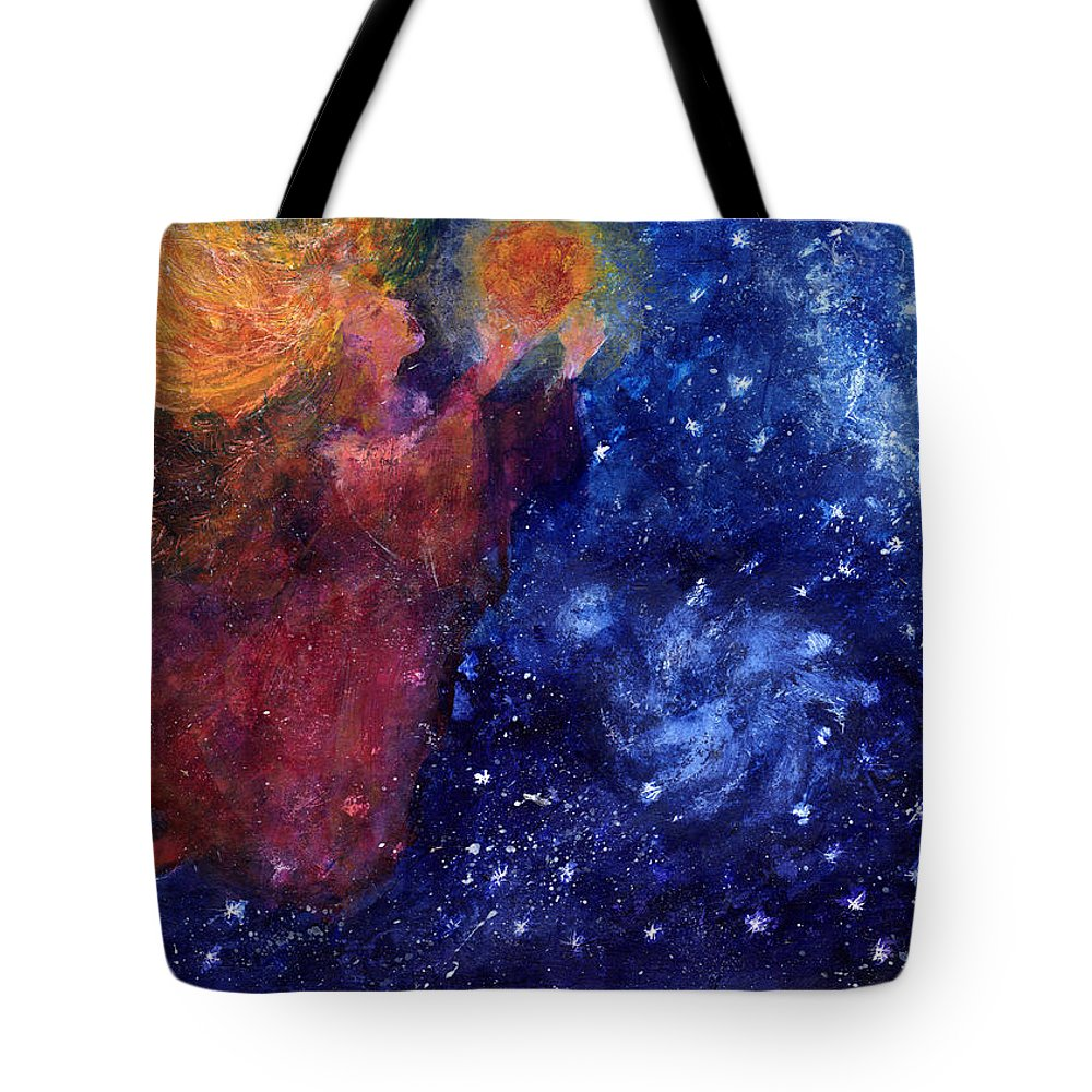 Angel Tote Bag featuring the painting Angel Heart by Diana Ludwig