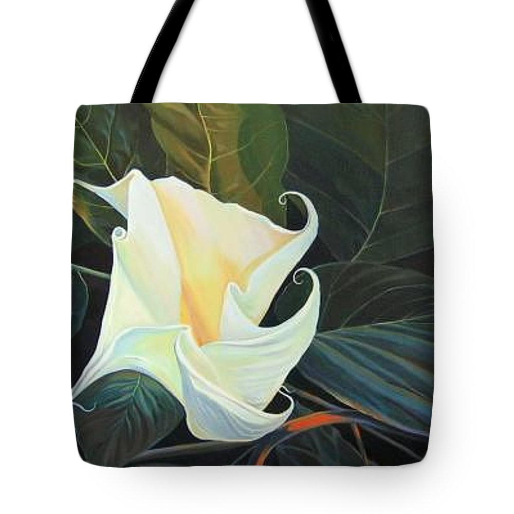 Angel Tote Bag featuring the painting Angel by Hunter Jay