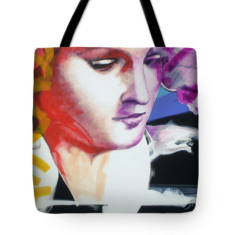 Pop Tote Bag featuring the painting Angel by Jean Pierre Rousselet