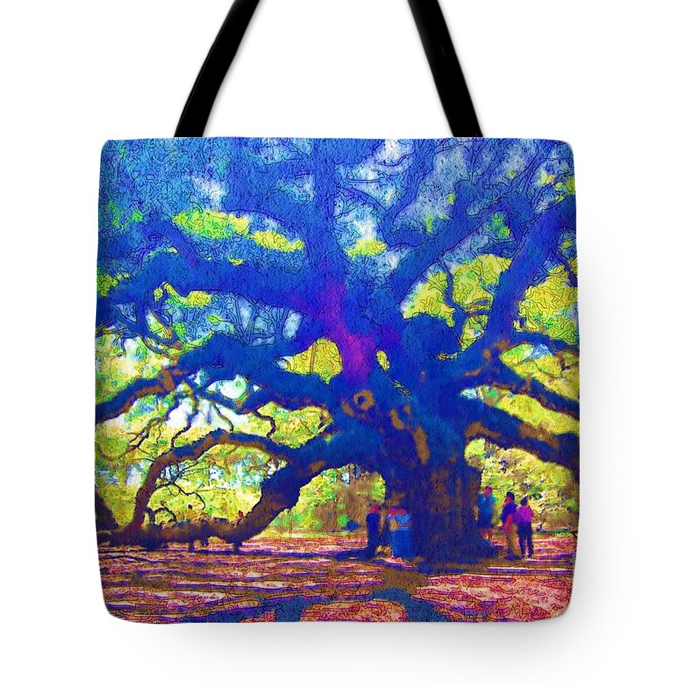 Tree Tote Bag featuring the photograph Angel Oak Tree by Donna Bentley
