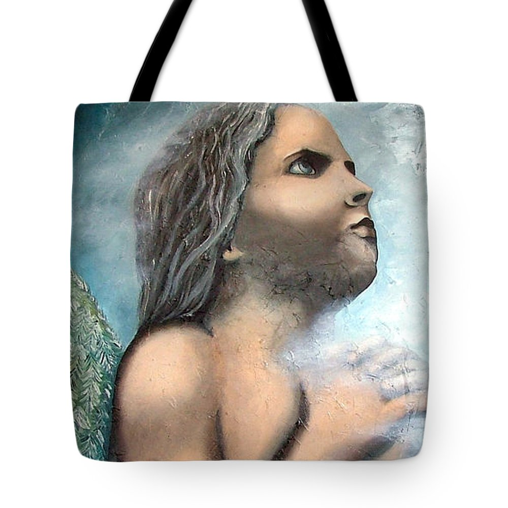 Angel Tote Bag featuring the painting Angel Of Faith by Elizabeth Lisy Figueroa
