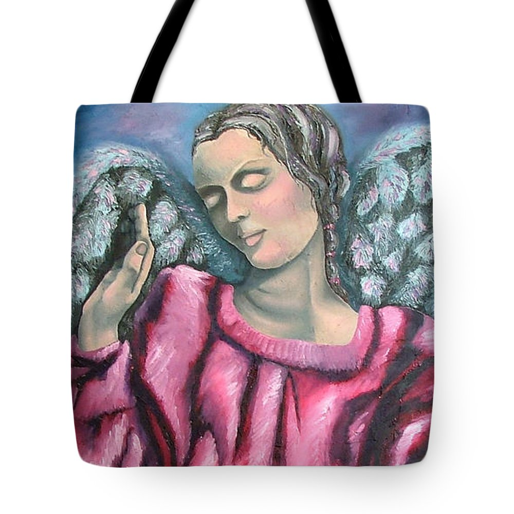 Angel Tote Bag featuring the painting Angel Of Hope by Elizabeth Lisy Figueroa
