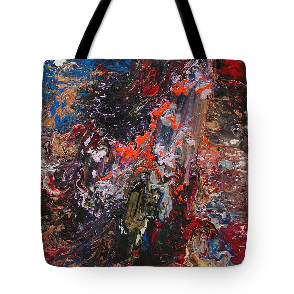 Fusionart Tote Bag featuring the painting Angel Rising by Ralph White