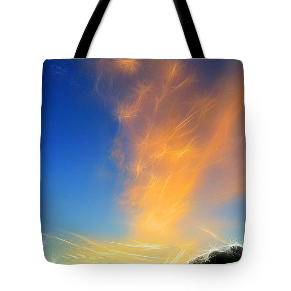 Tote Bag featuring the photograph Angel Sparks by Susan Carey