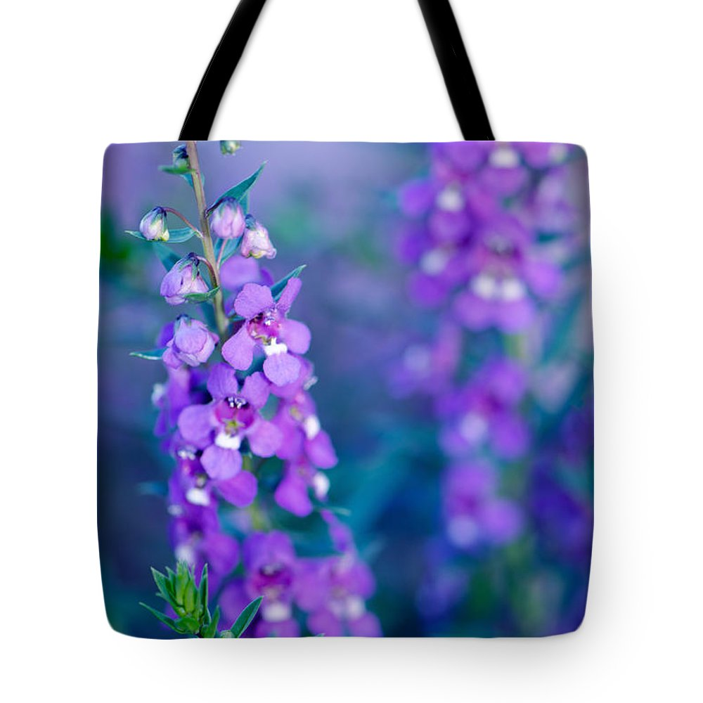 Floral Tote Bag featuring the photograph Angelonia Serena by Betty LaRue