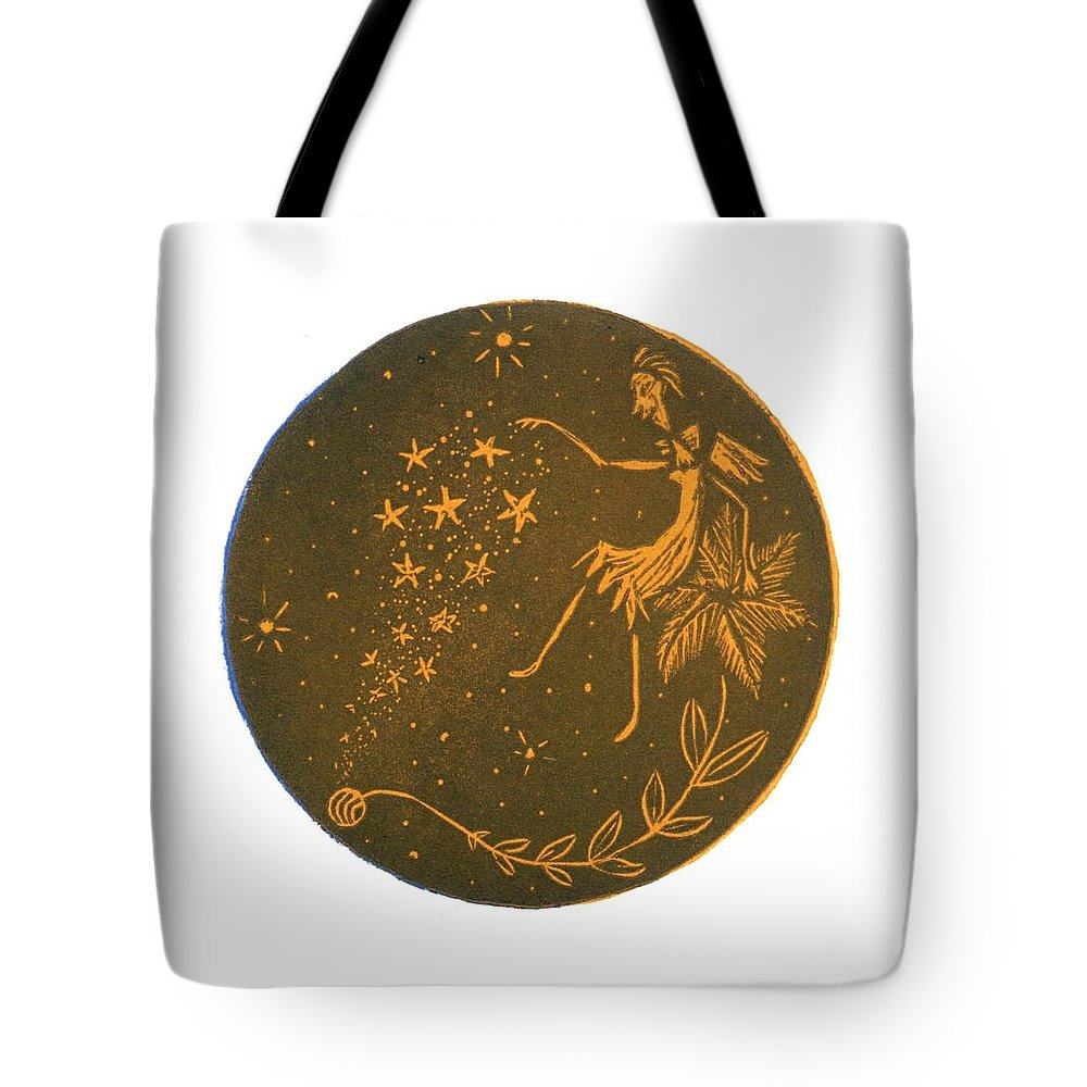 Angel Tote Bag featuring the painting Angel's Gift by Minako Oka