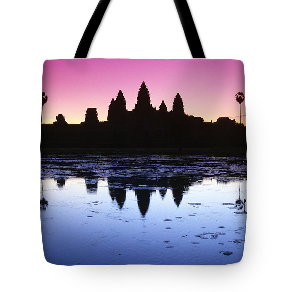 Ancient Tote Bag featuring the photograph Angkor Wat by Gloria & Richard Maschmeyer - Printscapes