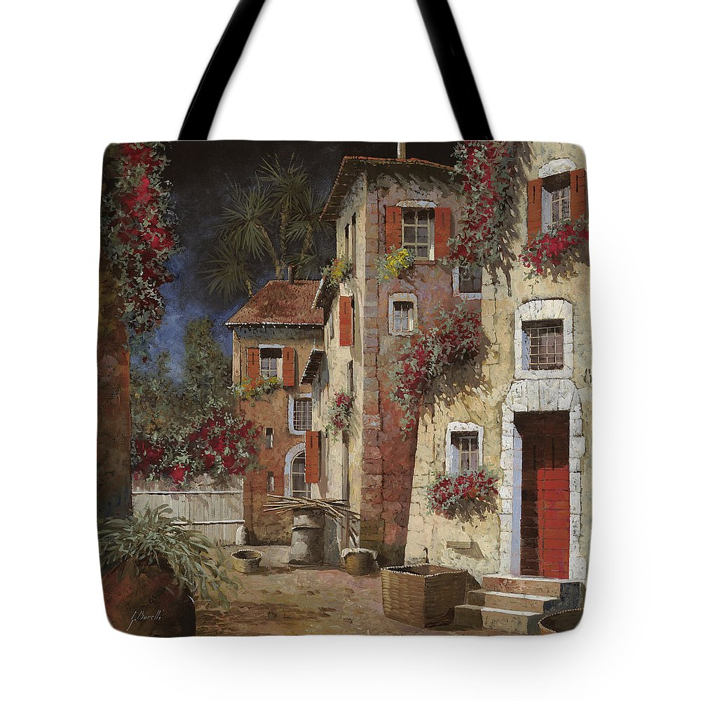 Night Tote Bag featuring the painting Angolo Buio by Guido Borelli