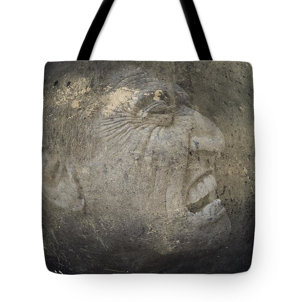 Anguish Tote Bag featuring the photograph Anguish by Movie Poster Prints
