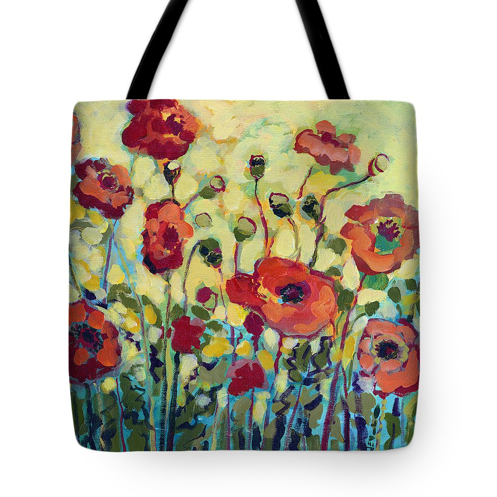 Poppy Tote Bag featuring the painting Anitas Poppies by Jennifer Lommers