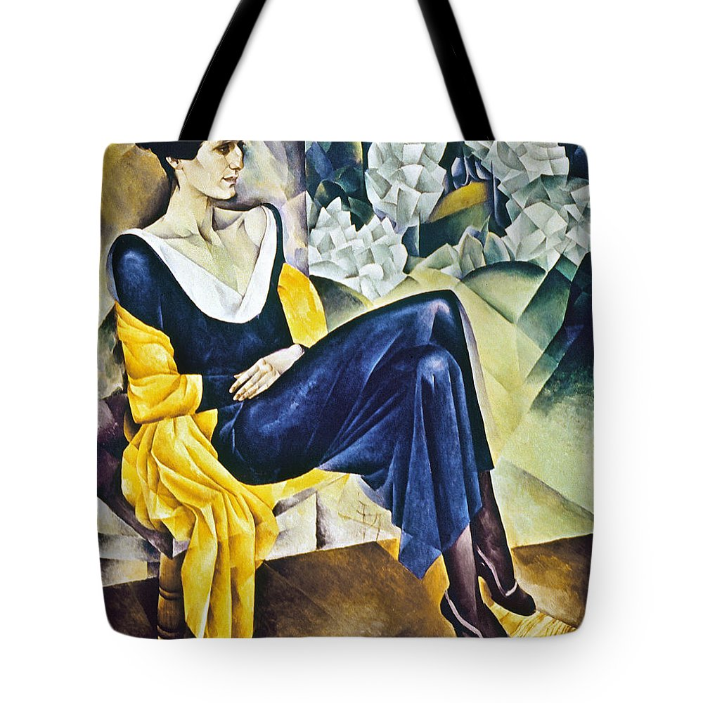 1914 Tote Bag featuring the photograph Anna Akhmatova (1889-1967) by Granger
