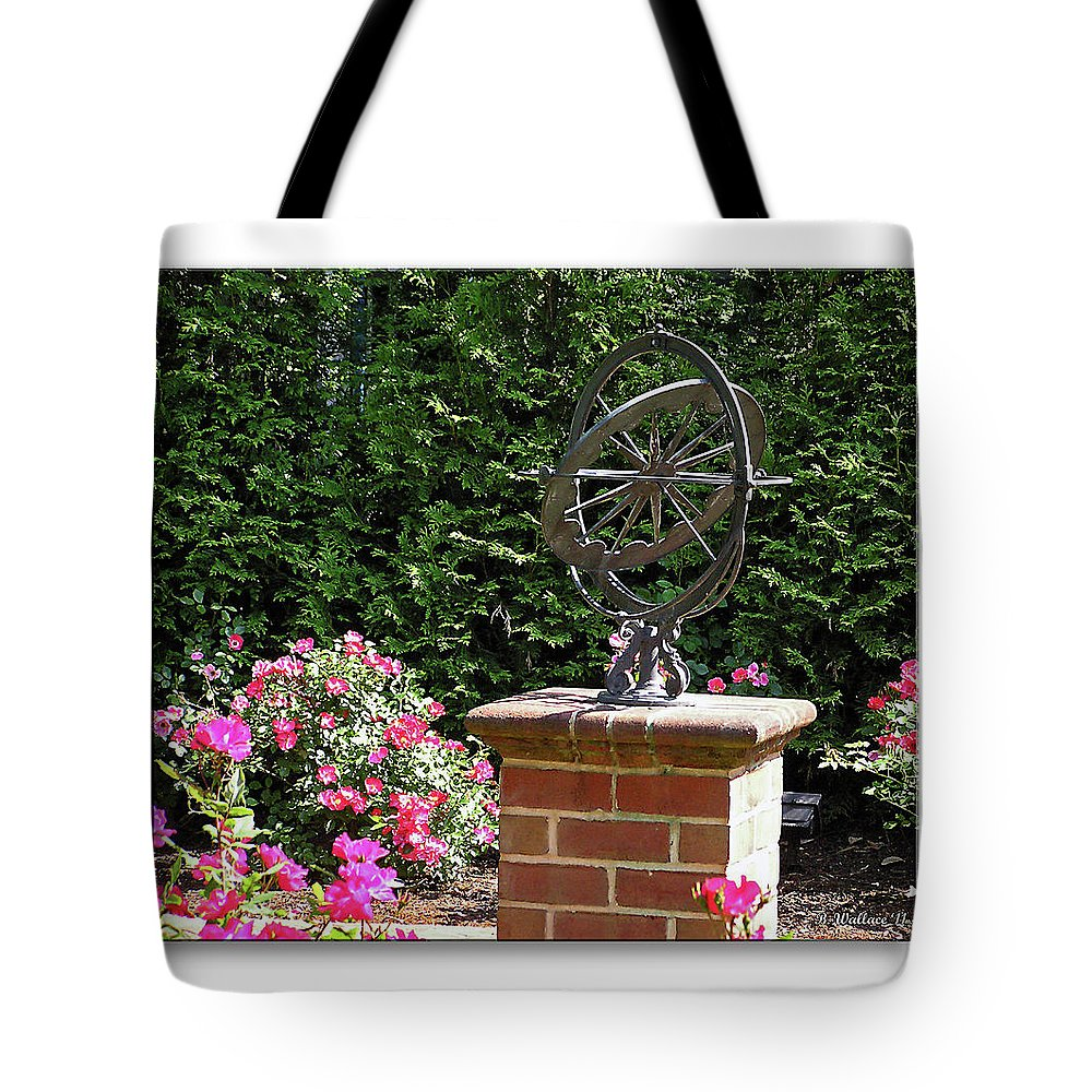 2d Tote Bag featuring the photograph Annapolis Garden Ornament by Brian Wallace