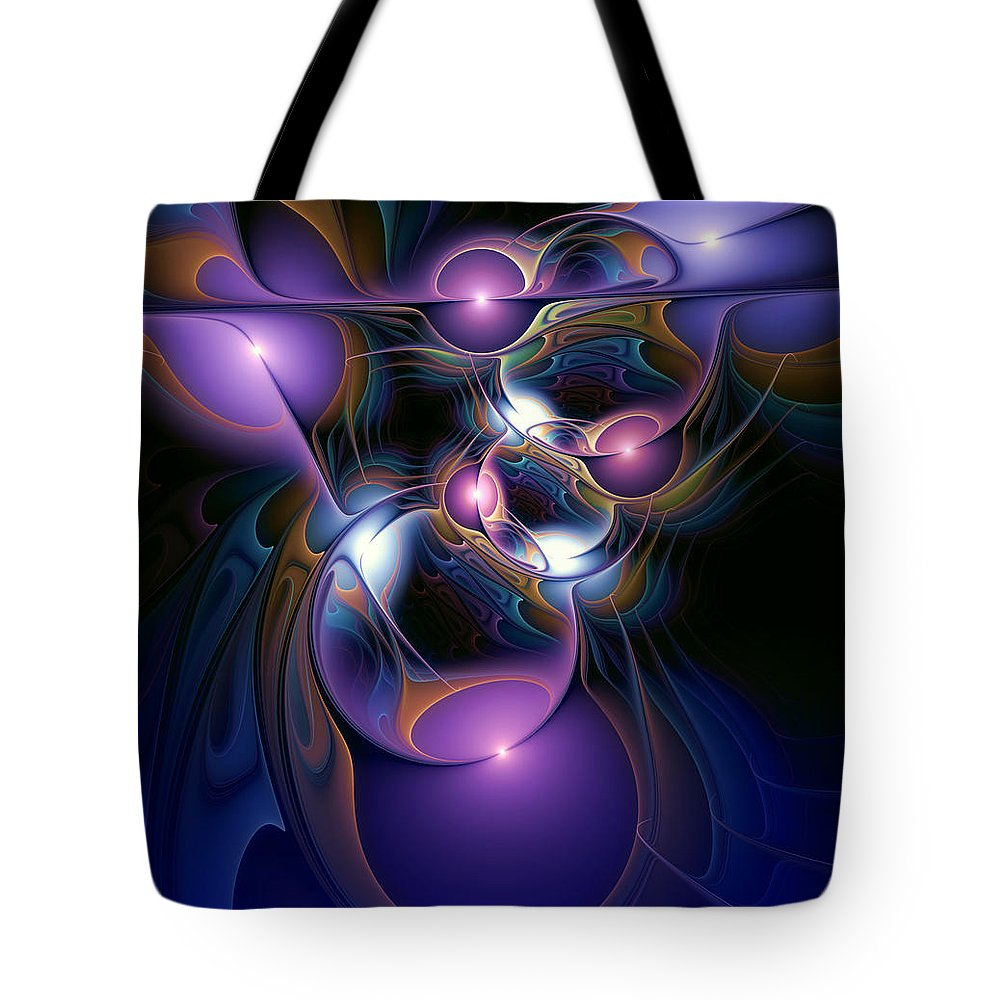 Abstract Tote Bag featuring the digital art Anointment by Casey Kotas
