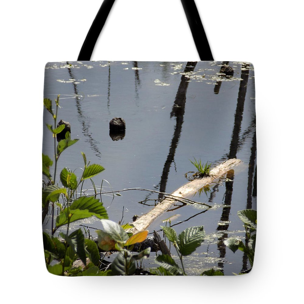 Log Tote Bag featuring the photograph Another Bog Log by William Tasker
