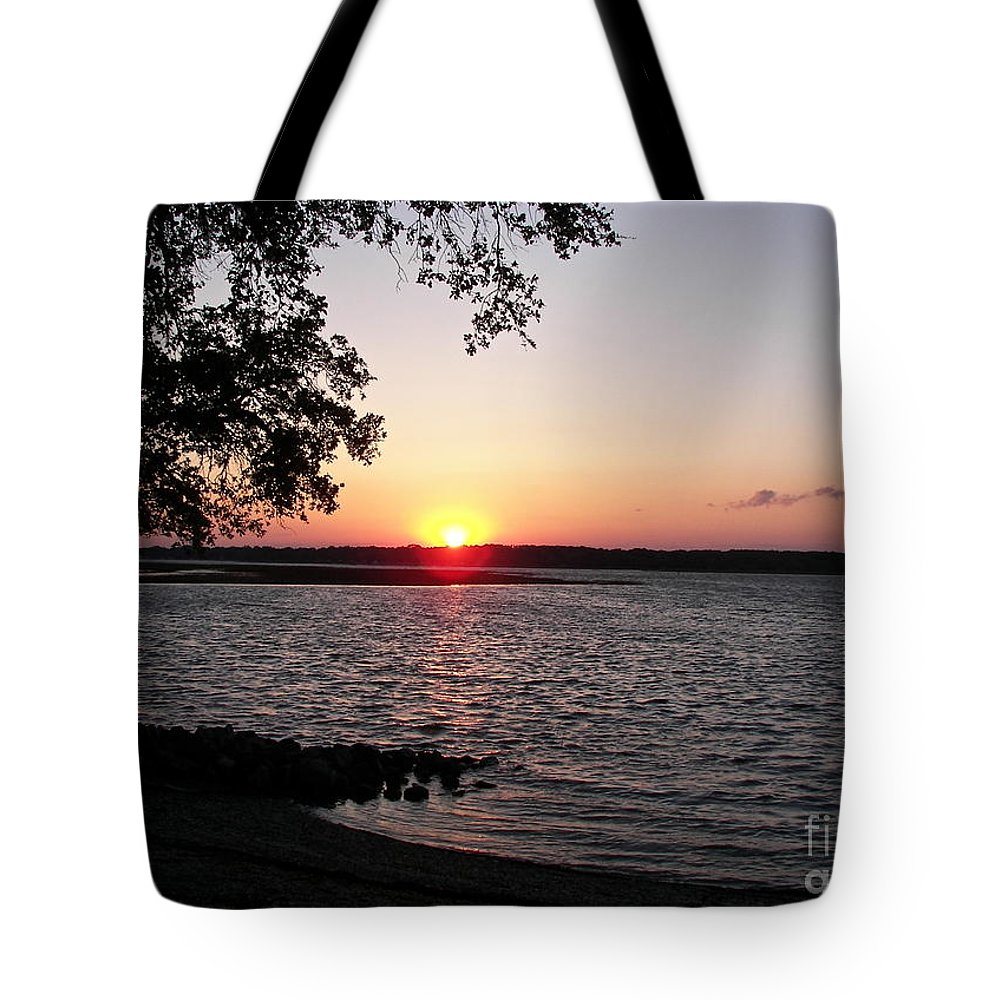 Sunset Tote Bag featuring the photograph Another Hilton Head Sunset by Carol Bradley
