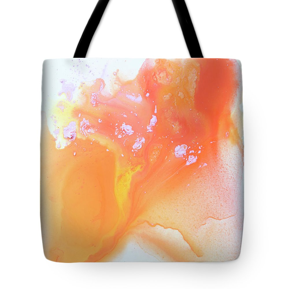 Abstract Tote Bag featuring the painting Another Love by Claire Desjardins