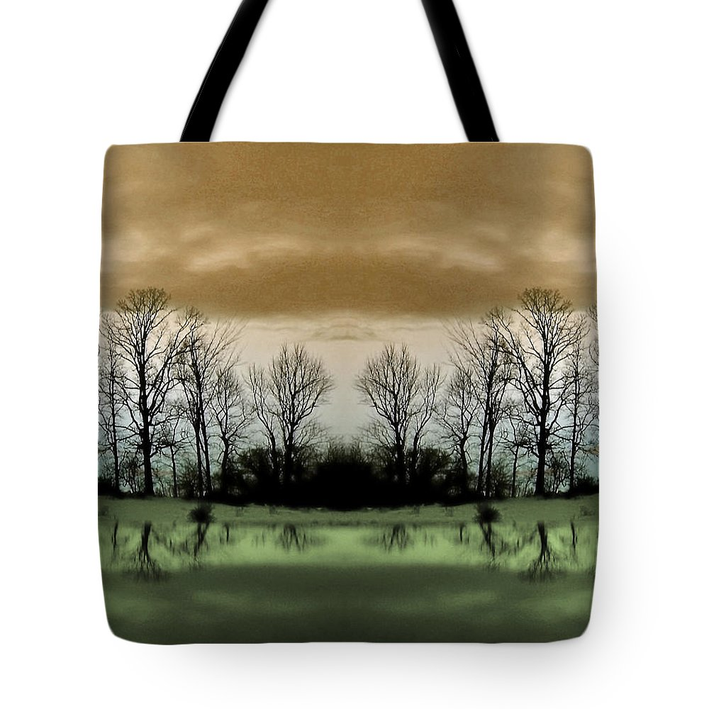 Green Tote Bag featuring the photograph Another Planet by Munir Alawi