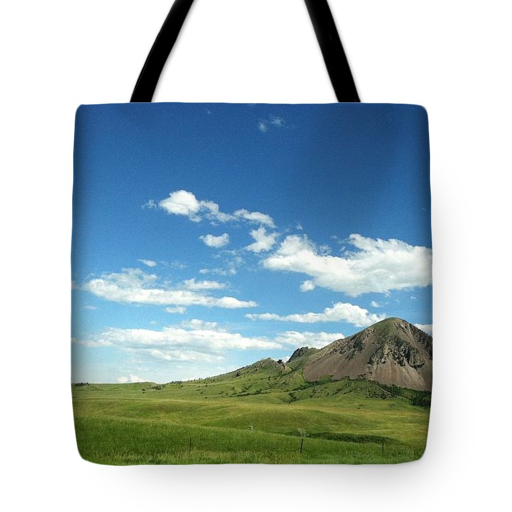 Summer Tote Bag featuring the photograph Another Side Of Bear Butte by Pamela Pursel