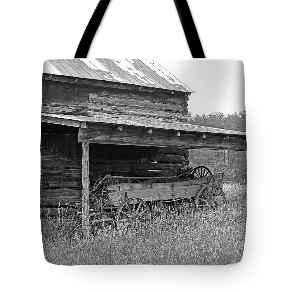 Black And White Tote Bag featuring the photograph Another Time by Suzanne Gaff