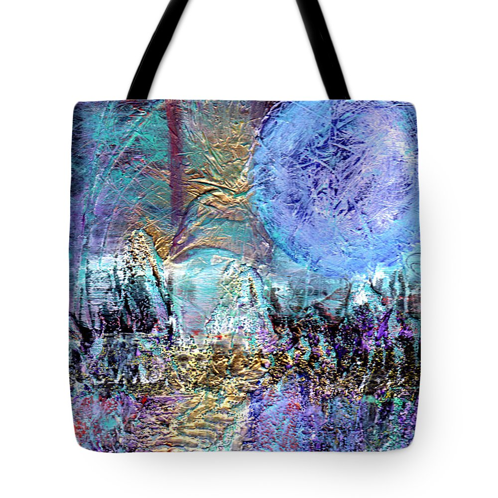 Surreal Tote Bag featuring the painting Another World by Wayne Potrafka