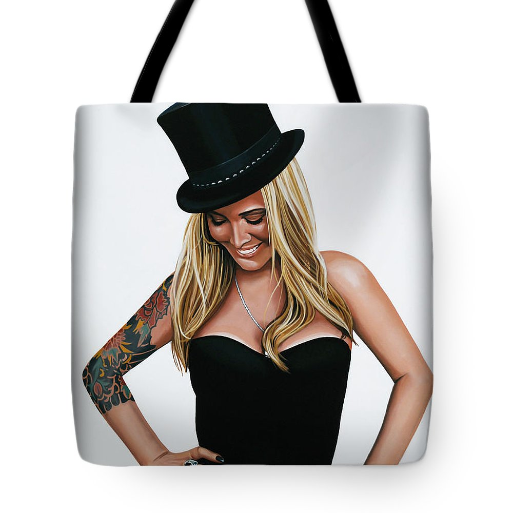 Anouk Tote Bag featuring the painting Anouk 3 by Paul Meijering