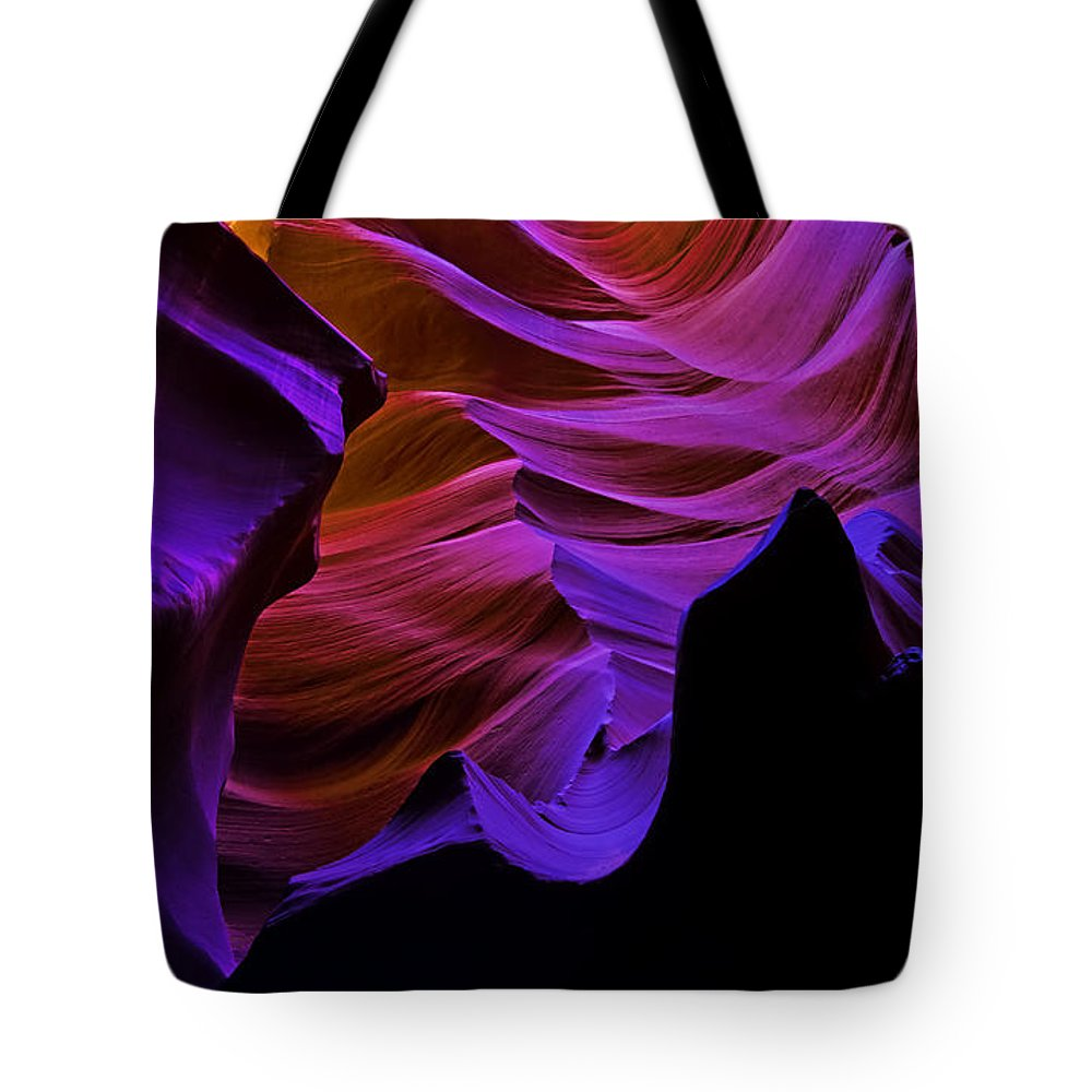 Antelope Canyon Tote Bag featuring the photograph Antelope Canyon Eleven by Paul Basile
