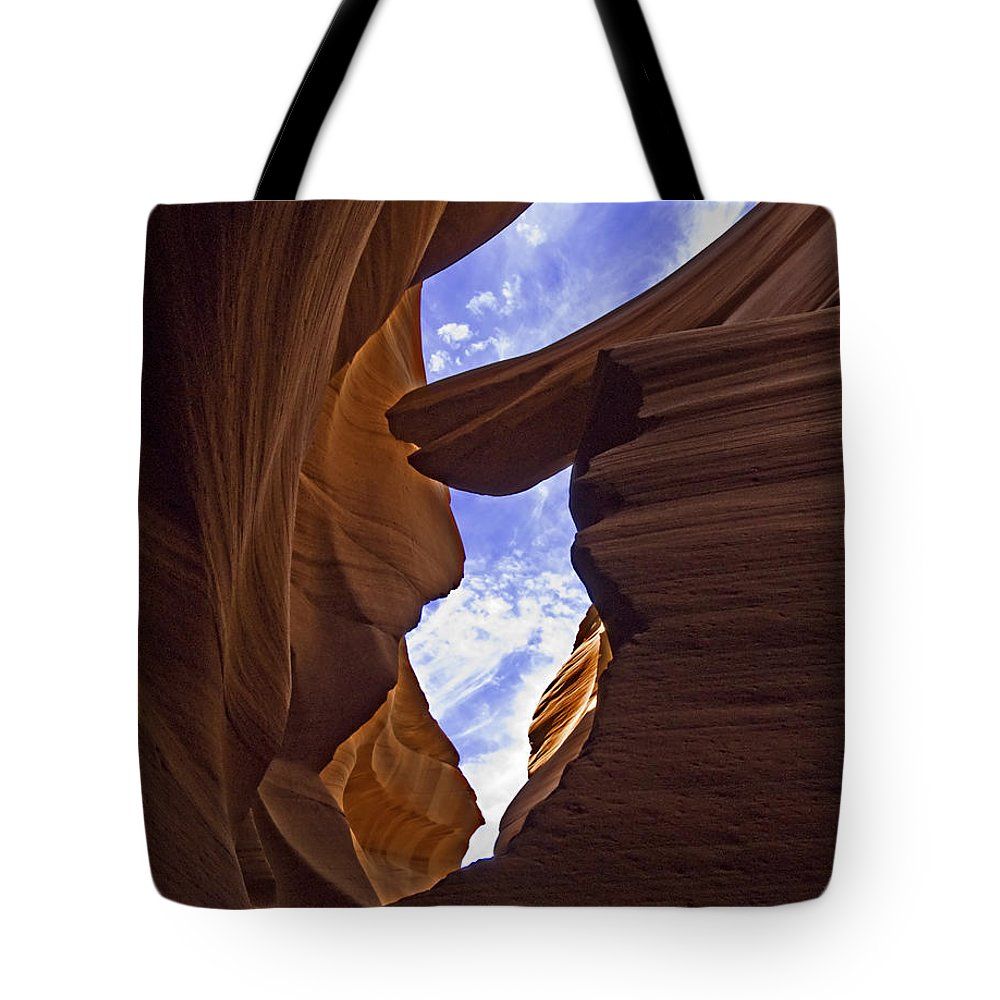 Antelope Canyon Tote Bag featuring the photograph Antelope Canyon Nine by Paul Basile