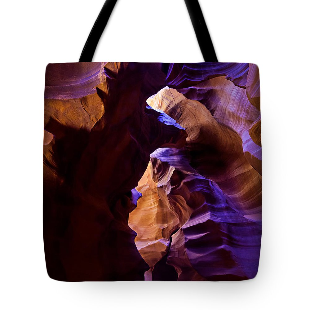 Antelope Canyon Tote Bag featuring the photograph Antelope Canyon Seventeen by Paul Basile