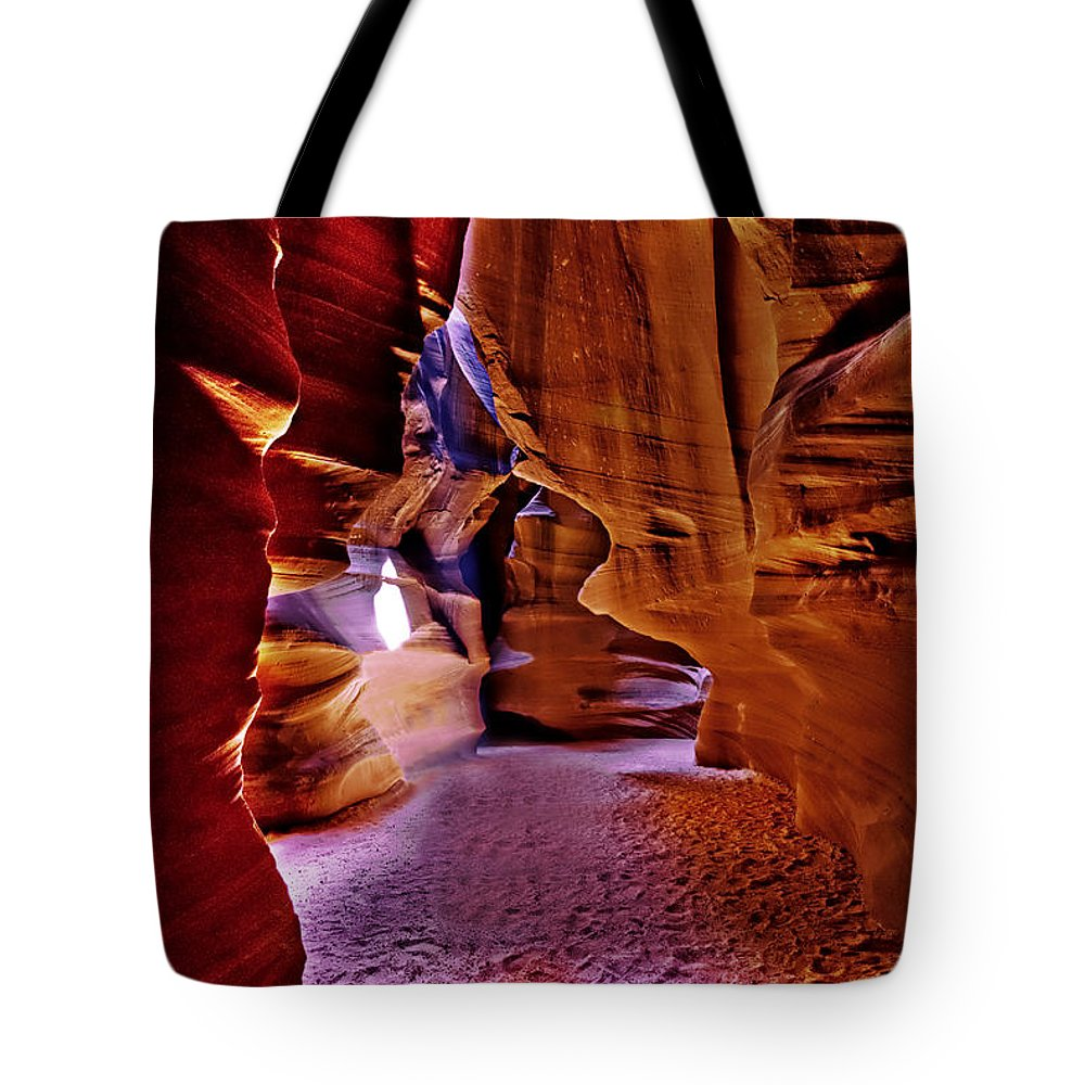 Antelope Canyon Tote Bag featuring the photograph Antelope Canyon Thirteen by Paul Basile