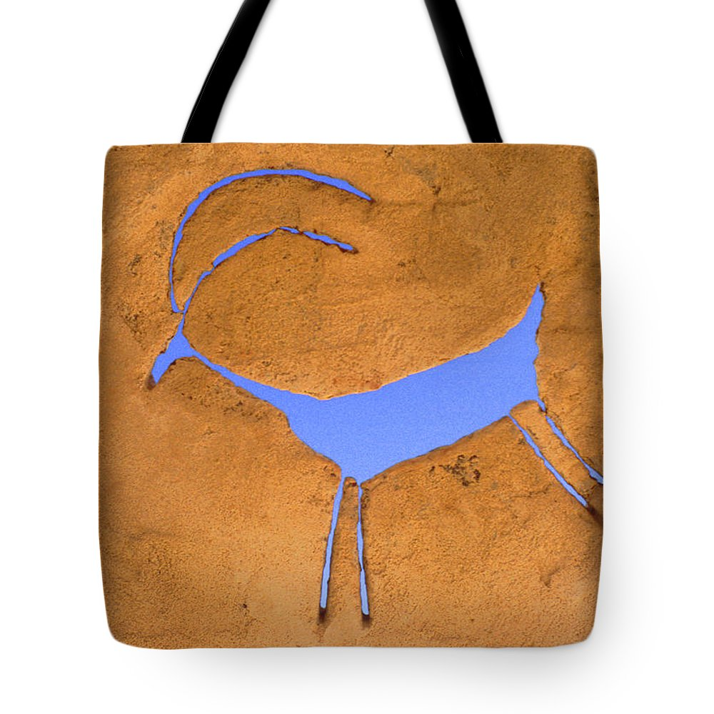 Anasazi Tote Bag featuring the photograph Antelope Petroglyph by Jerry McElroy
