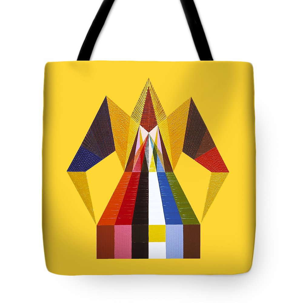 Contemporaryart Tote Bag featuring the painting Anteriority by Michael Bellon