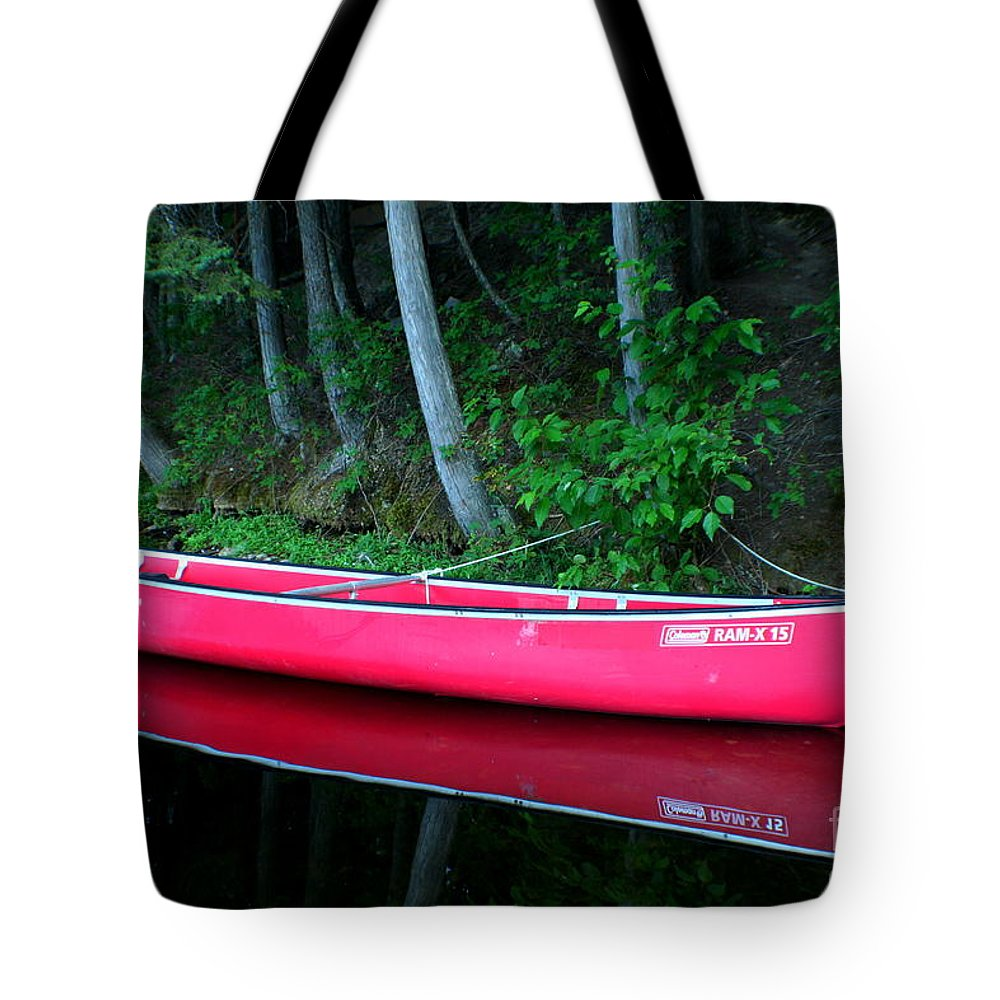 Canoe Tote Bag featuring the photograph Anticipation by Idaho Scenic Images Linda Lantzy
