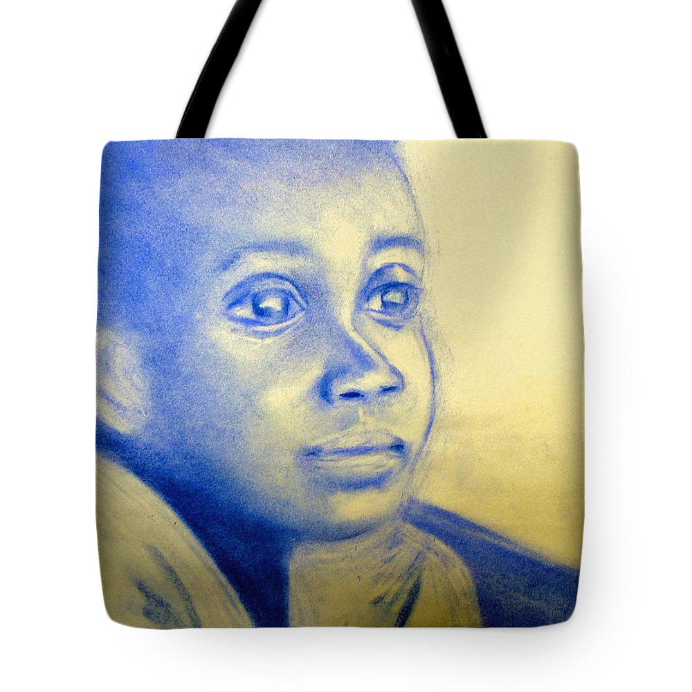 Tote Bag featuring the drawing Anticipation by Jan Gilmore