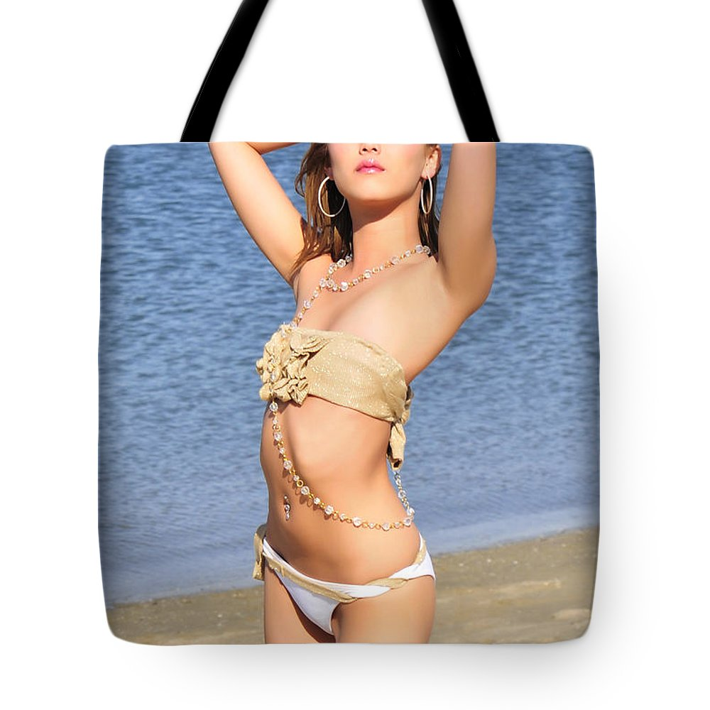 Glamour Photographs Tote Bag featuring the photograph Anticipation by Robert WK Clark
