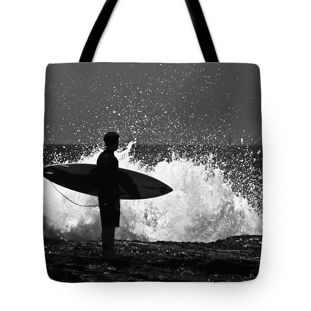 Surfer Tote Bag featuring the photograph Anticipation by Sheila Smart Fine Art Photography