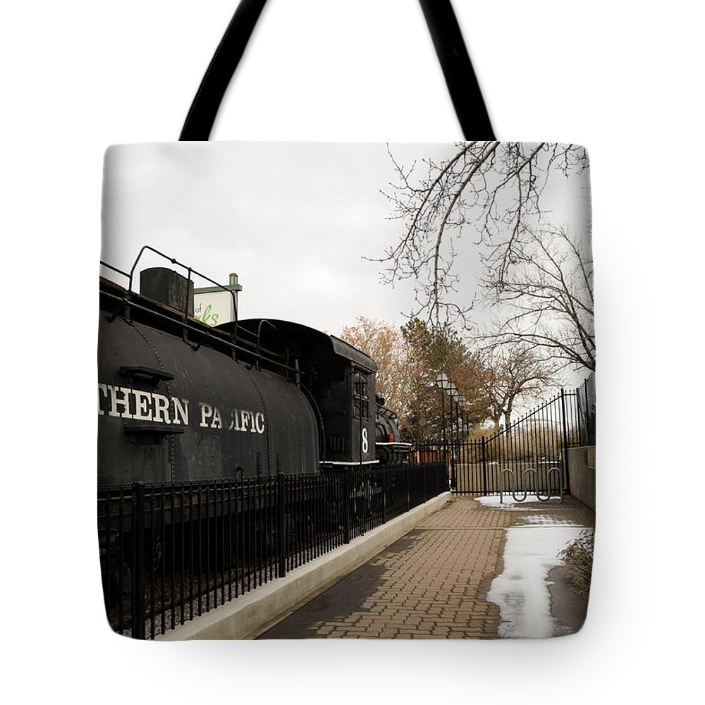 Train Tote Bag featuring the photograph Antique And Unique by Ashley Marie Hougelman